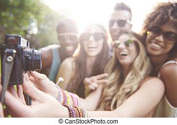 festival, levado, selfie, música