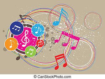 festival, música, fundo