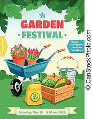festival, manifesto, giardino
