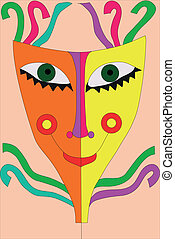 festival, masque, rubans