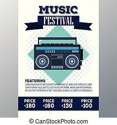 Festival music flyer