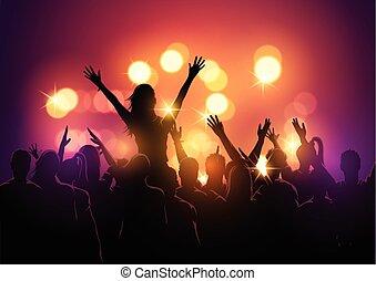 festival, musica, folla