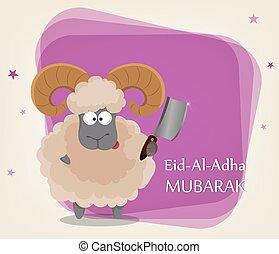 Festival of sacrifice Eid al-Adha. Traditional muslin...
