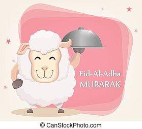 Festival of sacrifice Eid-Ul-Adha. Traditional muslin...