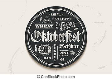 festival, oktoberfest, birra, sottobicchiere, iscrizione