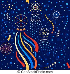 festival, padrão, estrela, seamless