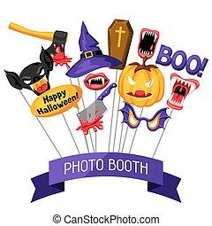festival, photo, halloween, accessoires, cabine, fête, props...