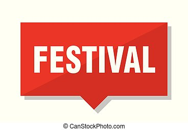 festival red tag
