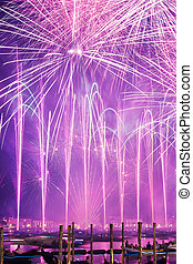 festival, redentore, fireworks