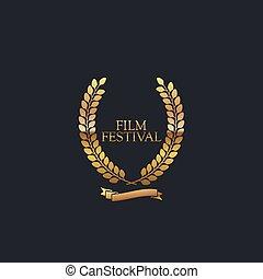 festival, signe., pellicule, récompense