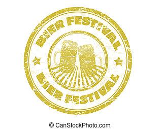festival, stämpel, bår