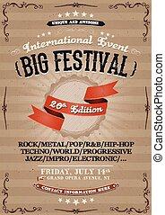 festival, vendemmia, invito, manifesto