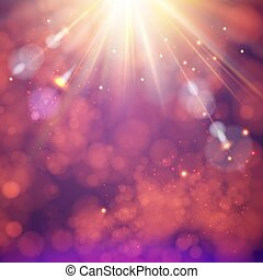 Festive abstract background with a bright sunburst.
