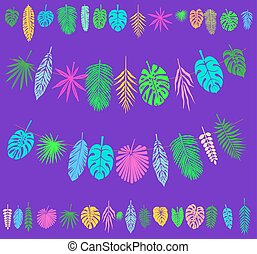 Festive and Party decoration with Tropical Leaves