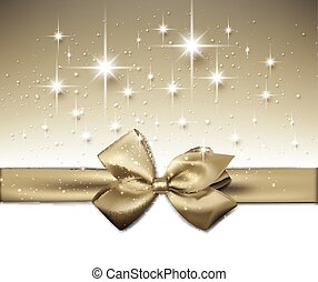 Festive Background. - Festive background with gold bow.