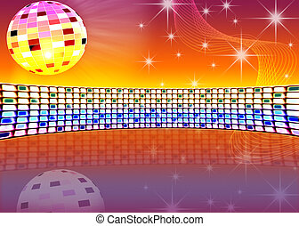 festive background - festive dance background with brilliant...