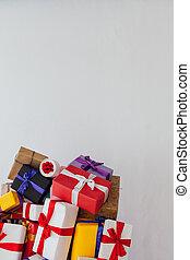 festive background postcard for New Year Christmas birthday