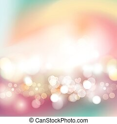 Festive background with defocused lights vector