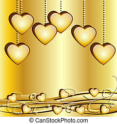 Festive background with hearts to the day of saint Valentin