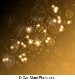 festive background with highlights
