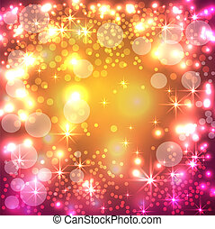 Festive background with lights