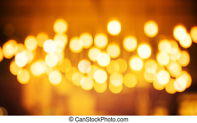 Festive Background With Natural Bokeh
