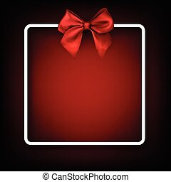 Festive background with red bow.