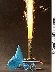 festive birthday dessert cake