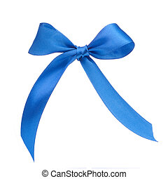 Festive blue gift bow