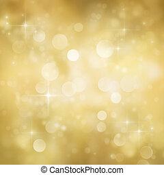 Festive bokeh background - Festive gold Christmas abstract...