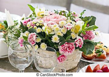 Festive bouquet of flowers