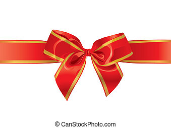 Festive Bow (vector) - Festive Bow (With Space For Your...