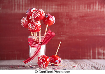 festive cake pop
