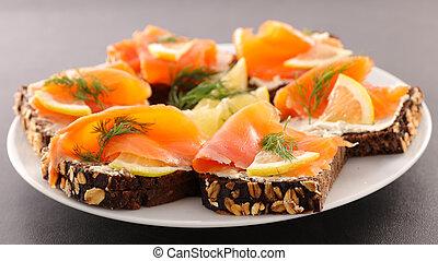festive canape, buffet food