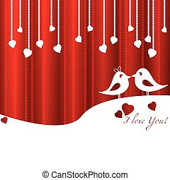 Festive card on Valentine's day