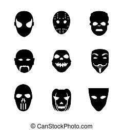 Festive carnival icons.