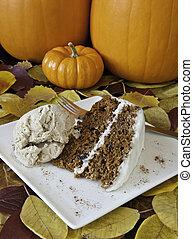 Festive Carrot Cake with Cinnomon Ice Cream