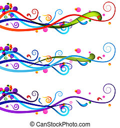 Festive Celebration Banner Set - An image of a colorful ...