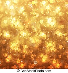 Festive Christmas and New Year feast bokeh background, easy ...