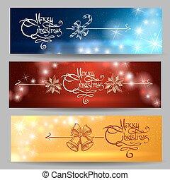 Festive Christmas Banner Set