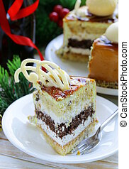 festive Christmas cake caramel