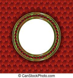 Festive Christmas Circle Background