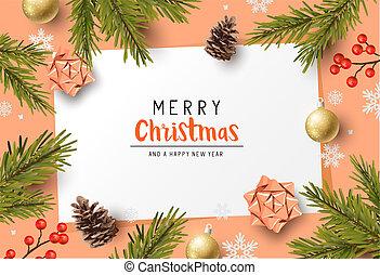 Festive Christmas Composition Background