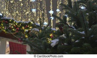 Festive Christmas decorations on the streets. - Christmas...