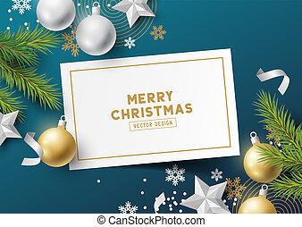 Festive Christmas Layout Background