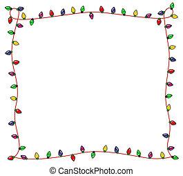 Festive Christmas Lights Frame