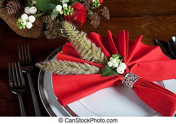 Festive christmas napkin 2