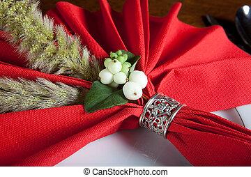 Festive christmas napkin 3