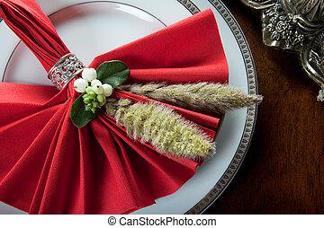 Festive christmas napkin 5