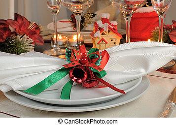 Festive Christmas table decoration